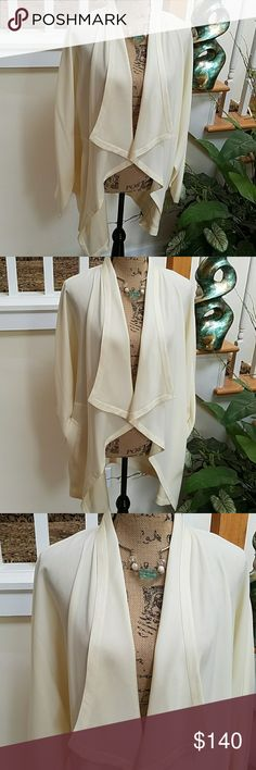 CLASSY VINTAGE LILLIE RUBIN JACKET This classy vintage jacket is about 25 years old. Worn 2 times. No tops, tears or stains. Many options for a dressy affair or date night. The off white color will match everything. Lillie Rubin Jackets & Coats