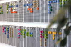 """""""Created by Vitamins Design, The Lego Calendar is a wall mounted planner made out of Lego blocks. Specially coded software using openFrameworks and openCV allows users to take a photo of the visual pane with a smartphone and synchronize the it with Google Calendar. The software automatically detects changes on the calendar by scanning the uploaded picture."""""""