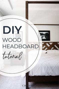 DIY Headboard in 7 Simple Steps - Crafted by the Hunts Wood Canopy Bed, Wood Headboard, Headboard Ideas, Headboards, Diy Furniture Tutorials, Diy Furniture Plans, Modern Furniture, Furniture Inspiration, Hunts