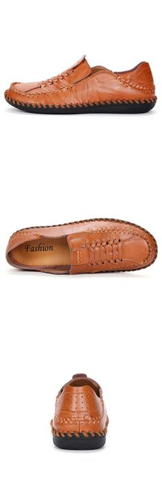 Amazon Handmade Men's Leather Summer Shoes Walking Slip On Loafers Casual Outdoor