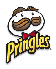 The pringle man looks like he is made out of a pringle chip which is pretty cool and helps sell the product. The colors aren't to saturated or to muted they look great. It is a very memorable logo since its so goofy.
