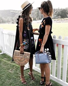 F E N D I G I R L S @fendi with my love @collagevintage at the Polo Classic event! @veuveclicquot #vcpoloclassic #clicquotstyle