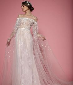 Georges Hobeika's bridal collection for 2018 sees ethereal floral details translated into the most romantic styles.