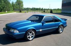 Let's take the girls to Florida in it! 93 Mustang, Blue Mustang, Ford Mustang Shelby Cobra, Fox Body Mustang, Mustang Cars, Ford Mustangs, Mustang Hatchback, Ford Classic Cars, American Muscle Cars