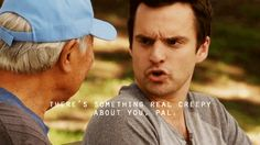 loved the creepy old Asian guy who changed Nick Miller's life