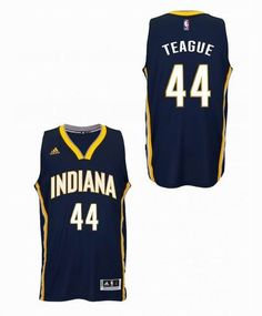 bfdce7905 Indiana Pacers  44 Jeff teague navy blue New Swingman Alternate Jersey  Basketball Plays