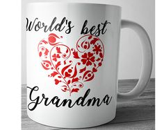 World's Best Grandma Grandma Mug Grandma Gift by JustPhoneCases