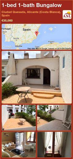 1-bed 1-bath Bungalow in Ciudad Quesada, Alicante (Costa Blanca), Spain ►€35,000 #PropertyForSaleInSpain