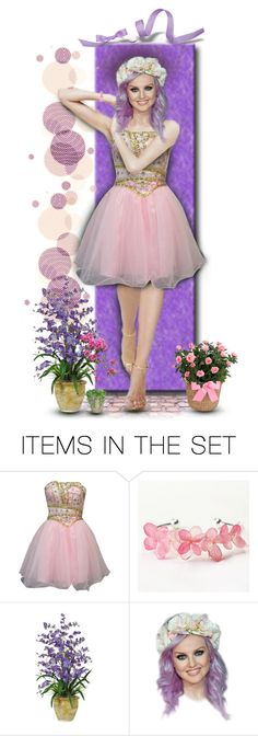 """""""The Girl With Flowers in Her Hair"""" by rboowybe ❤ liked on Polyvore featuring art and contestentry"""