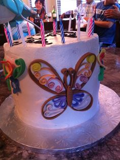 Quilling butterfly  fondant