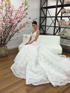 A sneak peek at @zacposen's new collection for @davidsbridal! | Brides.com