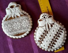 Sugar Lace, Cookie Designs, Holiday Cookies, Royal Icing, Cookie Decorating, Sugar Cookies, Gingerbread Cookies, Cross Stitch, Xmas