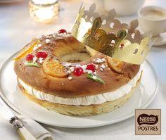 Roscón de Reyes con chocolate blanco