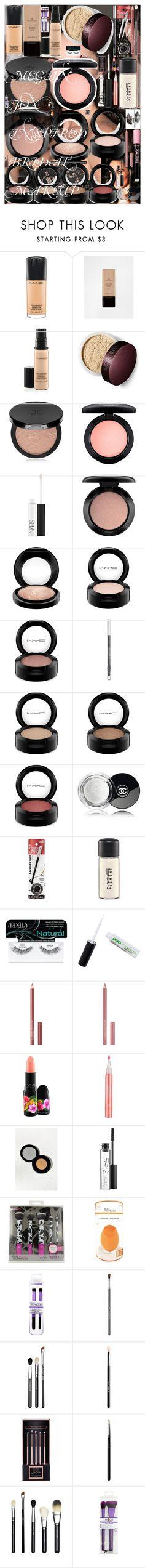 MEGAN FOX INSPIRED BRIDAL MAKEUP by oroartye-1 on Polyvore featuring beauty, MAC Cosmetics, Rouge Bunny Rouge, Illamasqua, NARS Cosmetics, Chanel, Anastasia Beverly Hills, Sigma, Stila and Inglot