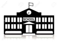 School Building In Black And White Royalty Free Cliparts Vectors And Stock Illustration Image 2 in 2020 School building Black and white illustration Building images
