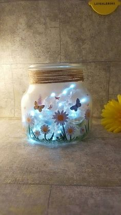 Check out this item in my Etsy shop https://www.etsy.com/uk/listing/458770812/butterfly-jar-table-lamp-daisies-light