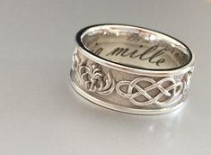 Celtic inspired silver cast ring