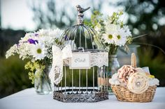 Birdcage wedding card holder ~ super cute! image by: Evan Chung Photography
