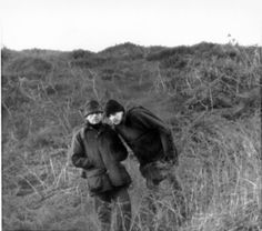 Ian Brady and detective Topping on saddleworth moors in the 80's serching for the body of Keith Bennette.