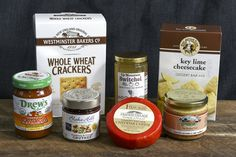 The July Hosting Box is the perfect collection to entertain friends and family at your weekend gatherings. This collection consists of a unique drink mixer; a chutney, cheese, and cracker combo; unique spreads; and fresh and tangy dessert.