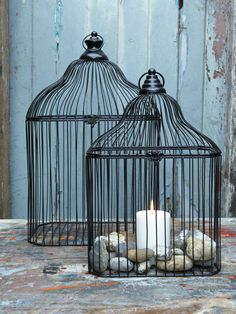 Decorative Bird Cages and candles