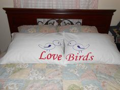Cute Love Birds Hand Painted Standard Couples by TreasuresShop, $34.00