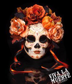 I....absolutely freakin' love this...This is halloween  Dia de los Muertos/ Day by VivalaMuerteStudio, $160.00