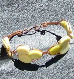 FREE S - Bracelet - Outstanding Lime Jade Wire Wrapped Bangle - A Jewelry Artistry Original - BR82