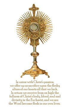 The Real Presence of Jesus In the Eucharist / Catholic Online: http://www.catholic.org/clife/jesus/eucharist.php More
