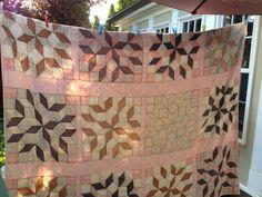 Pink quilt top.