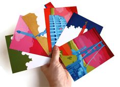 Art Gifts Postcard Set Pop Art Colorful Wall Decor by rainaregan