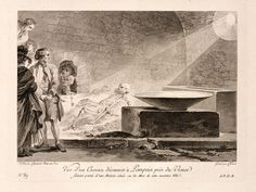 """""""View of a Vault Discovered at Pompeii near Vesuvius,"""" by Jean-Honore Fragonard (1781-1786)"""