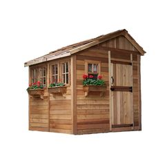 8 x 8 sunshed garden shed with dutch door
