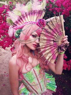 RococoPunk . #Rococopunk . fanhawk . fantasy | Costuming/Hair/Makeup/Model: Erin Layne ~ Atelier Sidhe http://facebook.com/ateliersidhe