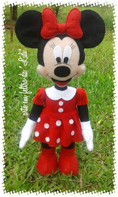 Feltro Fácil Moldes e Apostilas: Molde Minnie e Mickey