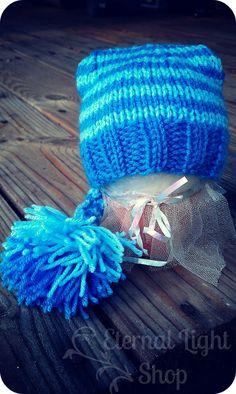 Knitted Elf Baby Beanie Up to 12 Months by EternalLightShop, $15.00