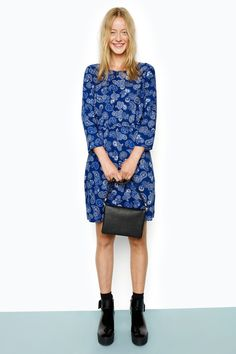 Soft. Cute. But oh the edge behind it. This simply cut grunge style dress will reflect your inner prettiness. Floral pattern in deep seasonal shades.