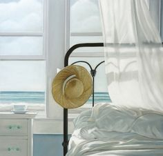 Framed Sand in the Sheets by Karen Hollingsworth Art Print Poster Coastal Beach Ocean (Blue) Interior Cottage Coastal Cottage, Coastal Homes, Coastal Style, Coastal Living, Coastal Decor, Cottages By The Sea, Beach Cottages, Beach Houses, House By The Sea