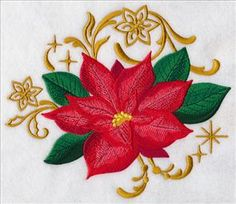 Machine Embroidery Designs at Embroidery Library! - New This Week New Embroidery Designs, Free Machine Embroidery Designs, Hand Embroidery Stitches, Embroidery Patterns, Quilling Christmas, Christmas Poinsettia, Christmas Ideas, Halloween Embroidery, Christmas Embroidery