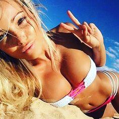 Beautiful Blonde Bikini Babe | Busty Shots