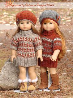 Ayanna  a faux fair isle sweater dress by DebonairsDesigns on Etsy, $3.75