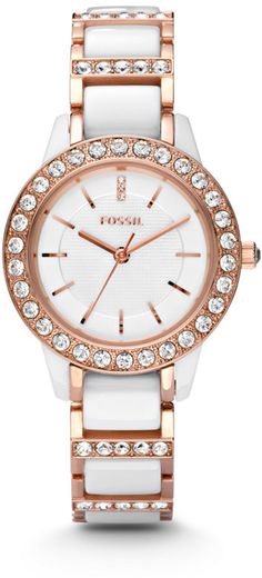 I never thought about getting a watch in my fix, but that would be fun! Not sure about white, but I would try rose gold.