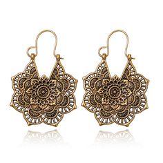 Clip On Pearl Earrings, Tribal Earrings, Flower Earrings, Statement Earrings, Women's Earrings, Silver Earrings, Earrings Online, Indian Jewelry, Boho Jewelry