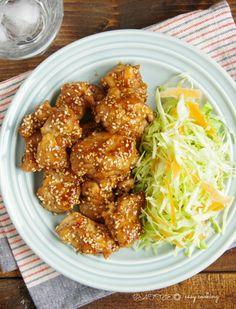 【ご飯もお酒も進む!】☆簡単☆ごまたっぷり甘辛鶏もも | これなら作れる!簡単おうちごはん♪ Home Recipes, Diet Recipes, Cooking Recipes, French Dip, Daily Meals, How To Cook Chicken, Japanese Food, Fine Dining, Tandoori Chicken