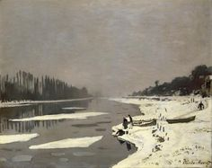 Ice Floes on the Seine at Bougival, 1867-1868 - Claude Monet