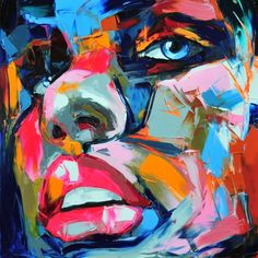 New Electrifying Palette Knife Portraits by Françoise Nielly