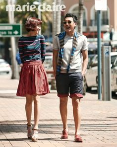 summer fashion :: Gong Hyo Jin x Ha Jung Woo for Marie Claire Korea, March 2012