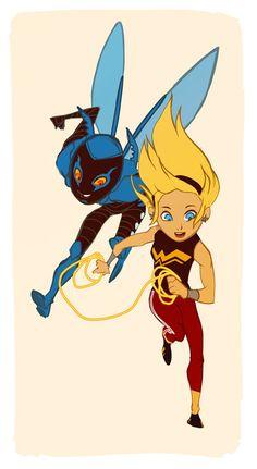 Blue Beetle and Wonder Girl :)