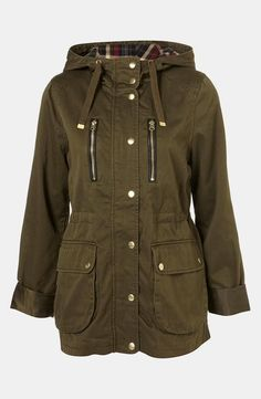Perfect olive utility jacket for fall.