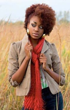 Natural hair with color